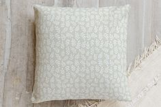 Cute leaves Pillow by Alexandra Dzh | Minted