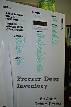 de Jong Dream House: freezer door inventory