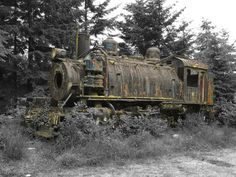 https://flic.kr/p/da9vUR   Old Train Wreck   Old Train Wreck close to Telegraph Cove on Vancouver Island. I took the photo with a Nikon Coolpix P500 last summer.