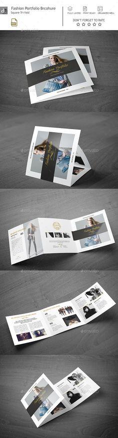 Fashion Portfolio Square Brochure Template PSD #design Download: http://graphicriver.net/item/fashion-portfolio-square-brochure/13684087?ref=ksioks