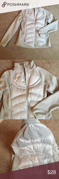 London Fog active wear grey jacket Worn once! Great for any occasion, it remind me of something like a lululemon top. London Fog Tops Sweatshirts & Hoodies