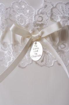 To Love and To Cherish Wedding Garter Bridal by LaGartierGarters