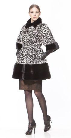 Braschi Dyed Sheared Mink and Blackglama Mink Fur Jacket