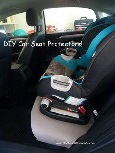 Cheap DIY Car seat protector cover yoga mat easy