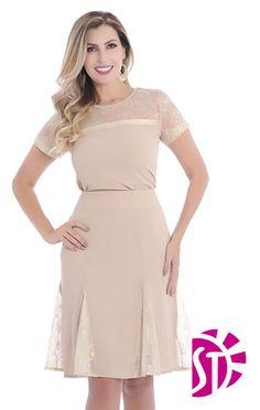 CONJUNTO 04229 - Clássica Moda Evangélica Peplum Dress, Chiffon, Dresses For Work, Couture, My Style, Lady, Womens Fashion, Skirts, Luxor