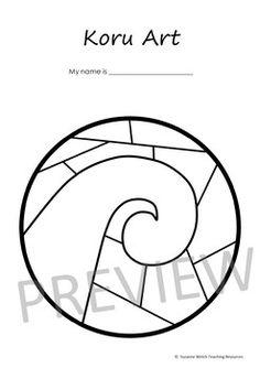 Koru Art – 4 Different Templates by Suzanne Welch Teaching Resources Teaching Tools, Teacher Resources, Art Template, Templates, Waitangi Day, Maori Symbols, Maori Patterns, 6 Class, Nz Art