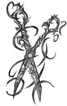 scissors tattoo - Google Search