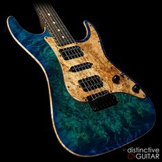 Suhr Standard Custom Aqua Blue Burst available at distinctiveguitar.com.