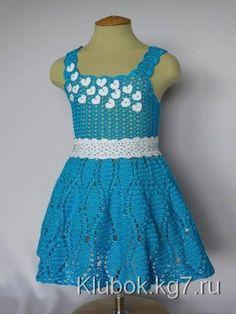 Платье крючком «Сердечки» | Клубок