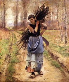 Charles Sprague Pearce   The Woodcutter's Daughter