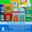 Acorn Kids > LP8 Acorn Kids, Funky Fingers, Creative Colour, Finger Painting, Surfs Up, Spray Bottle, Bubbles, Colours, South Africa