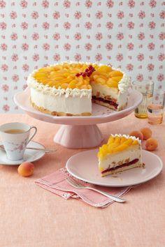 Aprikosen-Cassis-Torte Foto © Ulrike Holsten für ARD Buffet Magazin
