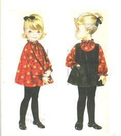 Butterick 3348 Vintage 60s Super Cute Toddler by PatternPlaying, $10.00