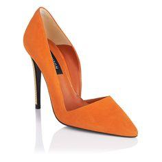 Ora Suede Point Toe Court Shoe - iVIP BlackBox