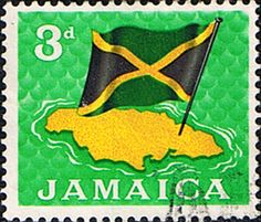 Jamaica 1964 Flag and Map Fine Used SG Scott 221 Other West Indies and British Commonwealth Stamps HERE!