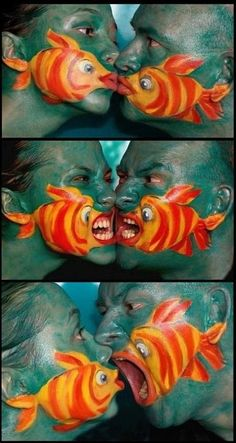 Awesome Paint Job! Haha! Love it :O) ~~ For more:  - ✯ http://www.pinterest.com/PinFantasy/arte-~-de-la-piel-skin-art-~-tattoo-body-painting/ ✯ #BodyArt