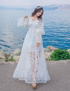 Cheap summer maxi dress, Buy Quality maxi dress directly from China club dress Suppliers: Summer Maxi Dress 2017 Runway Womens Fashion Lolita Embroidery Lace Party Dresses Women Sexy Long Vintage Club Dress Lace Party Dresses, Party Dresses For Women, Flower Girl Dresses, Wedding Dresses, Long Dresses, Vestidos Vintage, Vintage Dresses, Pretty Dresses, Beautiful Dresses