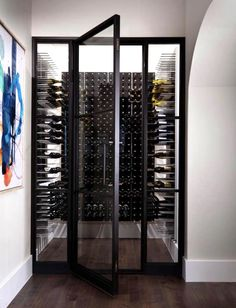 Photo shared by STACT Wine Racks on March 2020 tagging .You can find Wine racks and more on our website.Photo shared by STACT Wine Racks on March 2020 tagging . Glass Wine Cellar, Home Wine Cellars, Wine Cellar Design, Wine Design, Wine Cellar Basement, Small Closet Space, Glass Room, Wine Wall, Custom Glass