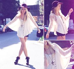 Get off of my Cloud... (by Morgan Joanel) http://lookbook.nu/look/2142121-Get-off-of-my-Cloud-Azuki-Evoke-Poncho-Minty-Meets-Munt-70-s-Boho-Hat-Minty-Meets-Munt-Furry-Boots