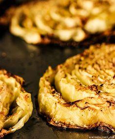 Roasted Cabbage with Lemon and Garlic // wishfulchef.com