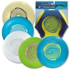 "Wham-o Pro Classic Frisbee (Colors Vary) by Wham-o. $4.00. Wham-0 Frisbe Pro Classic Frisbee Features: Size: 10""dia. Weight: 130g Disc Age Grading: 5+ Includes: 6 different colors for discs Packaging: Blister card Grip and hold with the thumb on top and the index finger just under the rim Throw keeping arm straight and near shoulder lever Do not aim the disc at any person's eyes or face Style number 81110. Save 60%!"