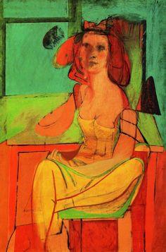 Willem DeKooning, Seated Woman