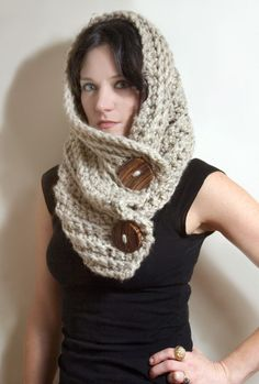 Roycroft Cowl SPRING SALE ReadytoShip in Oatmeal by LuluandLoie, $45.00