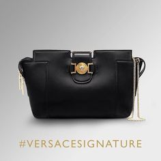 Timeless luxury. Treat yourself with the #VersaceSignature bag collection on versace.com