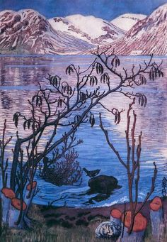 Nicolai Astrup,Norway,  woodcut