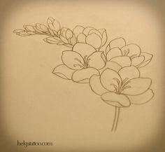 freesia tattoo idea