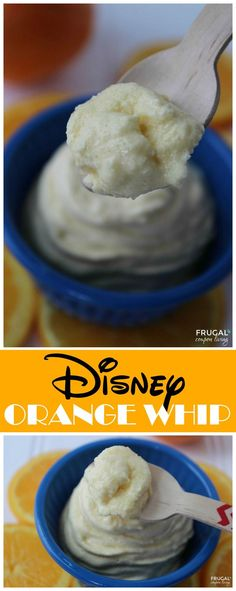 Love DIsneys Dole Whip Recipe, Make this Copycat Disney Orange Whip as a fun dessert. Great summer treat. Dole Whip Recipe on Frugal Coupon Living.