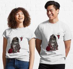 Cat Classic T-Shirt Classic T Shirts, Tee Shirts, T Shirts For Women, Cats, How To Wear, Stuff To Buy, Fashion, Moda, T Shirts