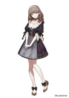 Anime Girl Dress, Manga Girl, Kawaii Anime Girl, Anime Art Girl, Cute Anime Character, Character Art, Medieval Girl, Anime Maid, Maid Outfit