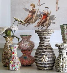 10 unexpected things people collect: Shell vases