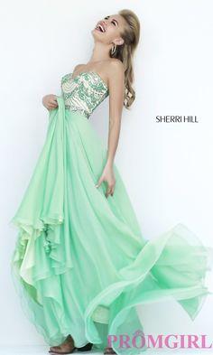 Image of Floor Length Beaded Dress Sherri Hill  Style: SH-1942 Front Image