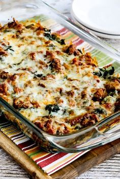 Low-carb sausage and kale mock lasagna is the perfect Keto diet dinner recipe