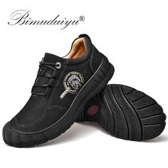 BIMUDUIYU Genuine Leather Men Shoes Handmade Top Quality Flats Male Casual Sneakers Male Walking Comfortable Non Slip Footwear Outfit Accessories From Touchy Style. Men Shoes With Jeans, Mens Vans Shoes, Mens Shoes Boots, Leather Shoes Brand, Black Leather Shoes, Leather Men, Jordan Shoes For Men, Best Shoes For Men, Casual Sneakers