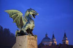 Dragon Bridge, Ljubljana, Slovenia Cityscapes, Slovenia, Statue Of Liberty, Bridge, Lion Sculpture, Dragon, Photography, Art, Liberty Statue