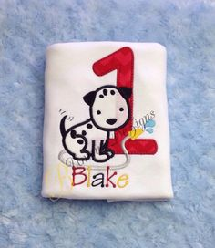 Applique Dalmation Birthday Number or Alphabet by BUniqueDeZigns