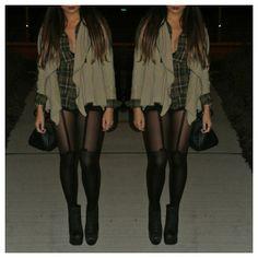 top; H&M • pullover; COSTA BLANCA • nylons; SIRENS • shoes; JEFFREY CAMPBELL - @_mmmango- #webstagram