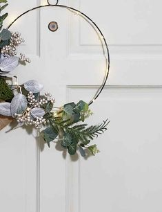 Buy the Pre Lit Circle Wire Wreath from Marks and Spencer's range. Circle Light, Light Up, Christmas Jumpers, Christmas Fun, Flower Circle, Wire Flowers, Wire Wreath, Great Night