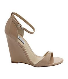 Steve Madden Nude Wedge - love these, simply and summery