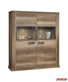 Fabulous Highboardvitrine Aalborg Monument Oak NB x
