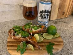 The Grove Brew House Division Indian Pale Ale with Ultimate Chili-Stuffed Sweet Potato Skins. Sweet Potato Skins, Chipotle Chili, Essex County, Mexican Cheese, The Settlers, Complete Recipe, Plain Greek Yogurt, Wineries, Sour Cream