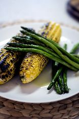 Charred Corn and Asparagus