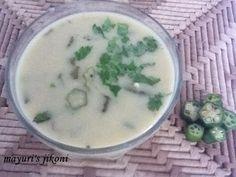 bhinda kadhi (okra curry)
