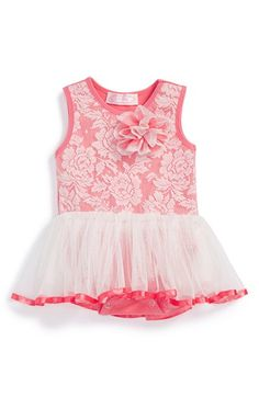 Popatu Lace Tutu Bodysuit (Baby Girls) available at #Nordstrom