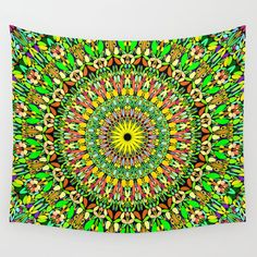 Floral Sun Garden Mandala Wall Tapestry by Mandala Magic by David Zydd - Small: x Romantic Home Decor, Classic Home Decor, Gothic Home Decor, Fall Home Decor, Mandala Tapestry, Wall Tapestry, Tapestry Design, Wall Art Designs, Wall Design