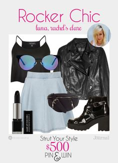 ROCKER CHIC: THIS is the new rocker chic trend. One part vamp, two parts devil horns, with just a dash of flirty. Don't forget to enter to win $500 at divinecaroline.com/strut-your-style