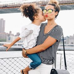 Adorable mom and mini street style